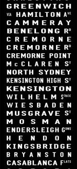 customised tram scroll,  scroll prints, bus prints