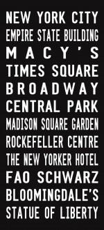 New York city tram scroll