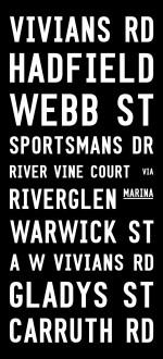 tram banner bus signs,