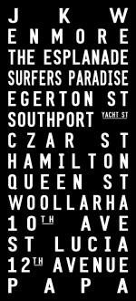 destination prints, typographic gifts Sydney