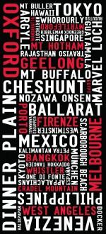 destination prints, typographic gifts paris