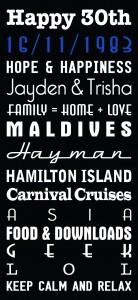 Multi font scroll