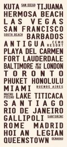 personalised typographic artwork