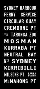 Sydney Harbour - Full Line