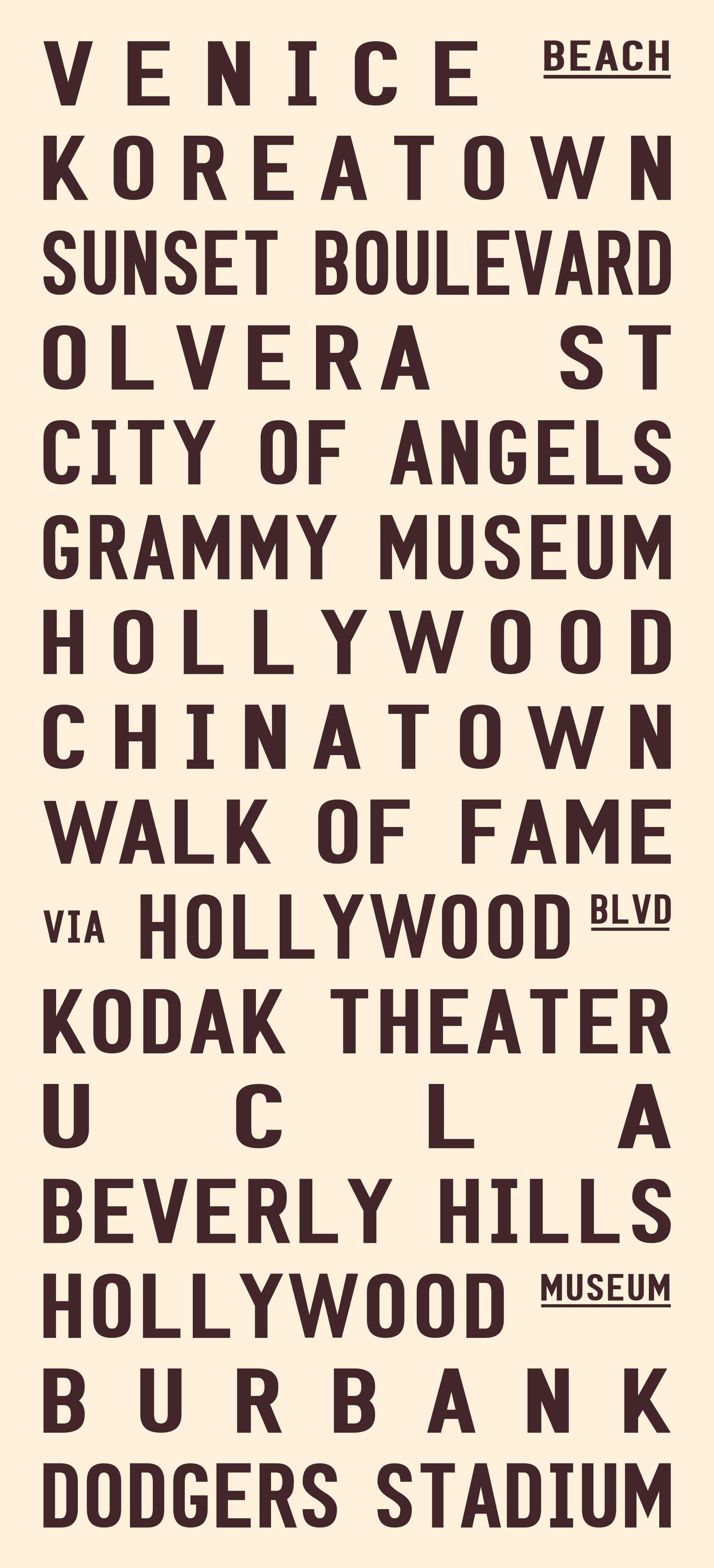 Los Angeles - cream & brown