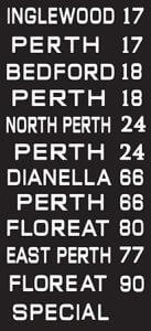Perth Vintage Reproduction Tram Scroll Art