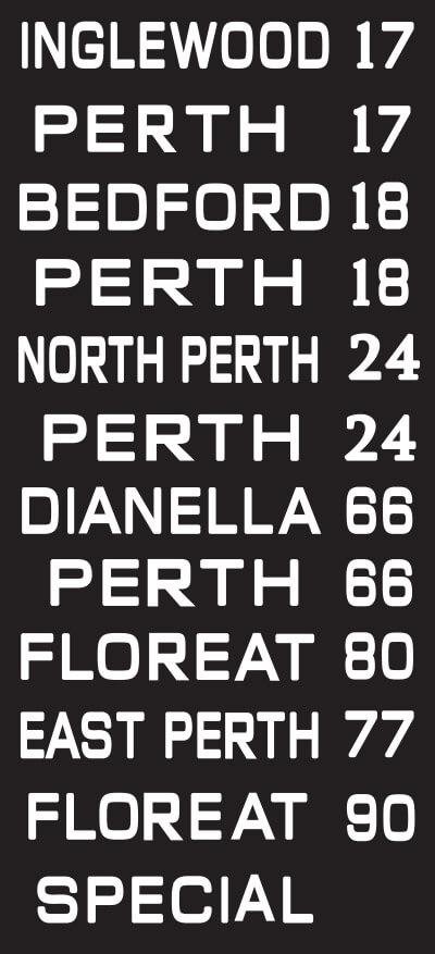 Perth Original Reproduction