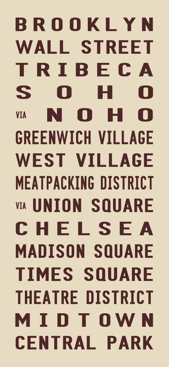 Brooklyn New YorkCity Vintage Word Art