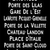 Bastille Paris Bus Destination Banner Wall Canvas Print