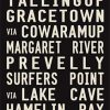 Cape Naturaliste via Margaret River Canvas Word Art