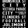 Vintage Fitzroy to the Racecourse via Flinders Street Canvas Word Art