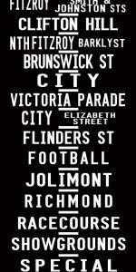 Fitzroy Melbourne Tram Scroll Art