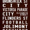 Vintage Reproduction Melbourne Fitzroy via Flinders Street Sign Art
