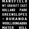 Garden City to Brisbane City via Mt Gravatt East Tram Banner Canvas Print