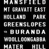 Garden City to Brisbane City via Mt Gravatt East Tram Banner Canvas Print
