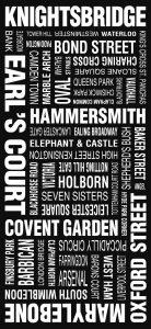 London Vintage Word Art