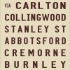 Melbourne to Cremorne Tram Destination Blind Canvas Art