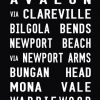 Palm Beach Tram Banner Wall Art