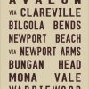 Palm Beach Vintage Tram Scroll Canvas Word Art