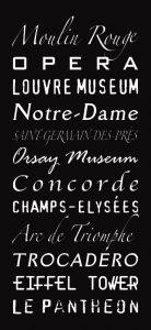 Multi-Font Paris Scroll