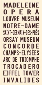 Vintage Paris Tram Roll Signs Wall Art Online Gallery
