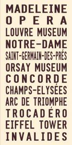 Vintage Paris Tram Roll Signs Wall Art Online Gallery
