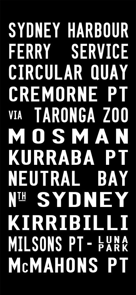 Sydney Harbour Ferry Service Tram Scroll Art