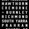 Black & White Melbourne St Kilda Tram Scroll