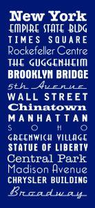 New York Royal Blue Bus Scroll