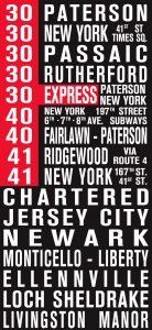 New Jersey Bus Scroll Art