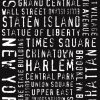 New York City Modern Style Word Art Canvas Print