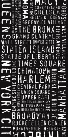 New York City Modern Style Word Art Canvas Print