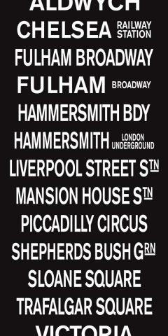 London Victoria Vintage Bus Blind Sign Canvas Print