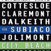 Coloured Vintage Tram Scroll Fremantle to North Beach via Subiaco