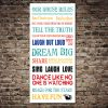 House Rules Tram Bus Banner Canvas Print Artwork