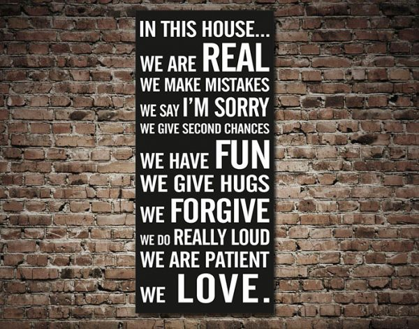 House Rules Tram Scroll Custom Typographic Word Art