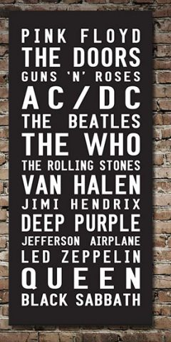 Rock Bands Tram Scroll Canvas Wall Art