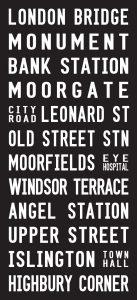 No. 43 London Bridge Bus Bus Sign Destination Canvas Print