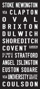 Stoke Newington to Coulsdon Sign Destination Canvas Print