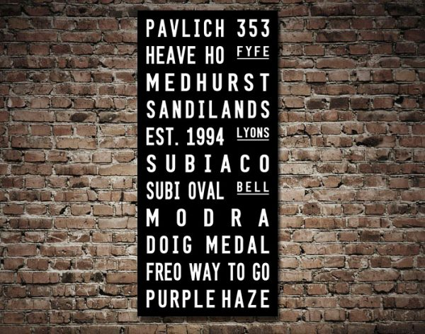 Fremantle Dockers Tram Scroll AFL Sports Footy Canvas Wall Art