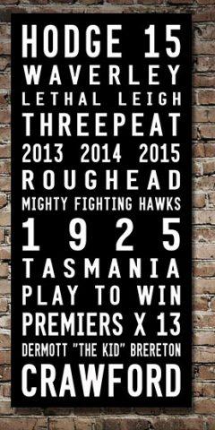 Hawthorn Hawks Tram Scroll AFL Sports Canvas Pictures Australia