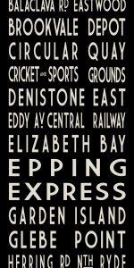 Glebe Point Vintage Route Tram Scroll