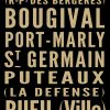 Vintage Bus Sign for Paris Destination Canvas Print