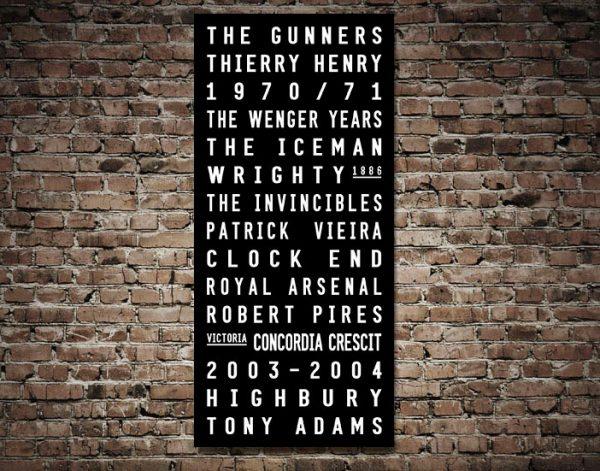 Arsenal FC Canvas Artwork