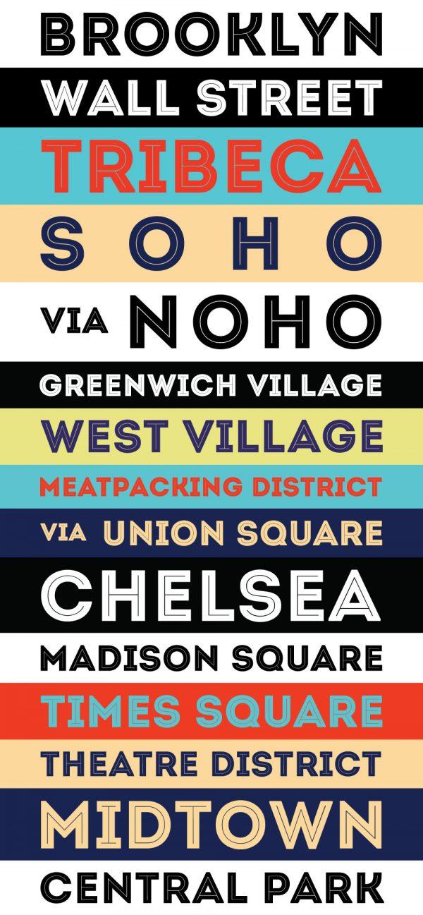 Brooklyn Retro Style Tram Banner Scroll