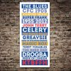 Chelsea FC Legends Blue Retro Tram Sign