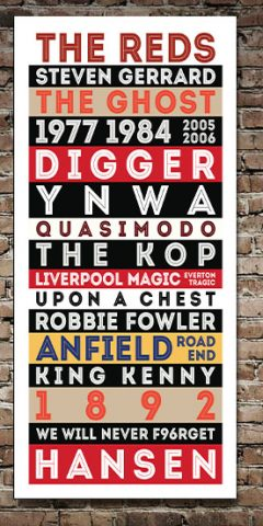 Liverpool Legends Retro Tram Scroll Art