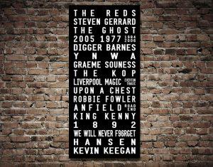 Liverpool Legends Tram Scroll Art