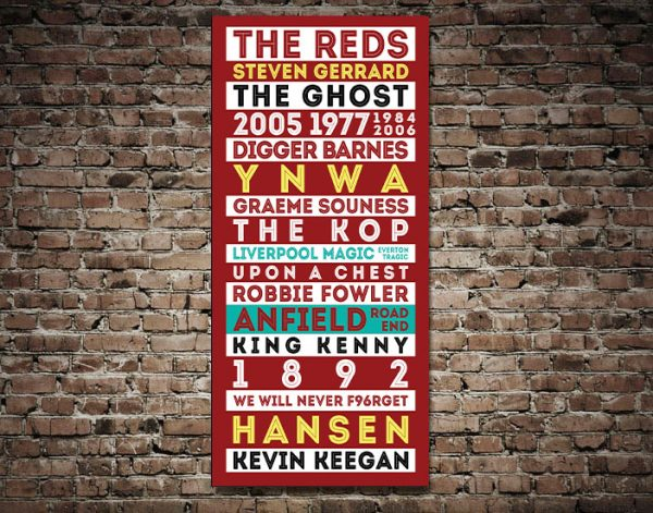 Liverpool Legends Red Retro Tram Scroll