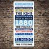Manchester City Retro Fanfare Prints Wall Art
